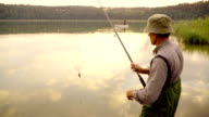 Slow-Mo:Fly-Fishing at Sunset video