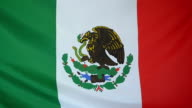 Slowmotion real textile Flag of Mexico video