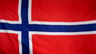 Slowmotion real textile Flag of Norway video