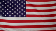 Slowmotion real textile Flag of USA video