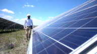 Slowmotion Technician At Solar Power Station video