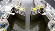 Sluice gate opening - view from above video