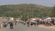 small african town high street video
