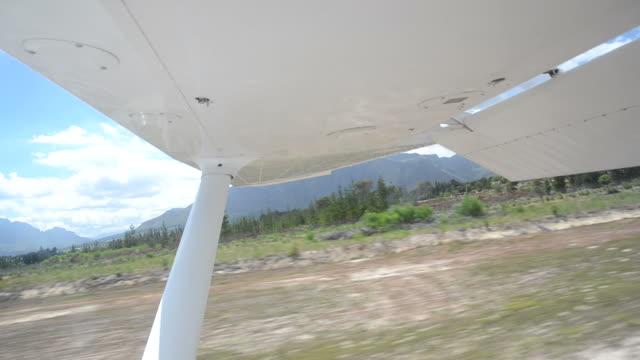 Small airplane landing video