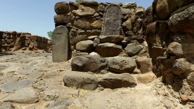 Small Altar at Entrance to Ruined City in Israel video