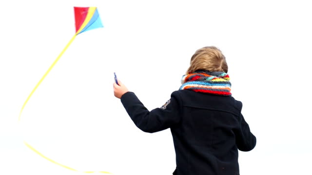 MS Small boy playing with kite video
