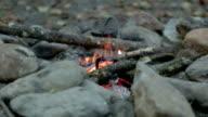 Small Campfire Close Up video