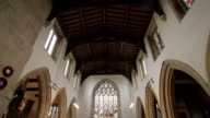 Small Church Interior - Cotswolds, England - Pan video