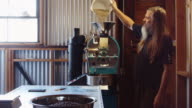 Small Coffee Roasting Business Scene video