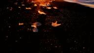 Small icebergs on the black volcanic sand beach video