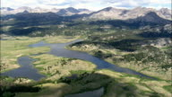 Small Lakes In the Bridger-Teton National Forest  - Aerial View - Wyoming,  Sublette County,  helicopter filming,  aerial video,  cineflex,  establishing shot,  United States video