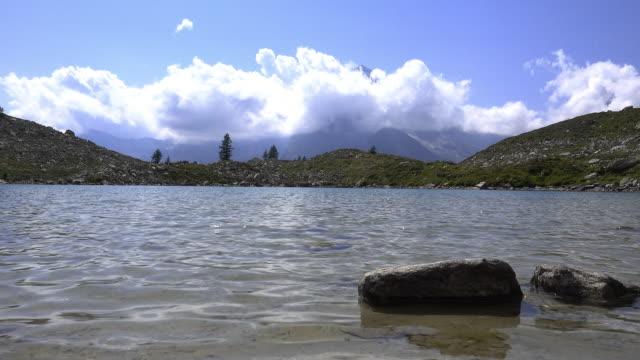 small mountain lake video