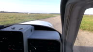 Small plane taking off video