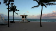 Small rescue house at Ft Lauderdale Beach in the evening video