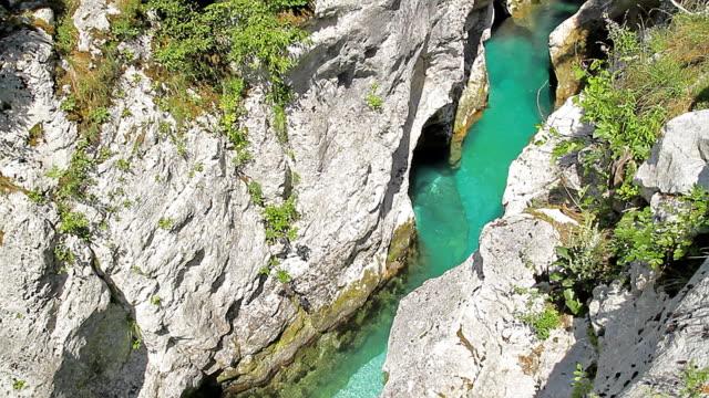 Small river canyon video