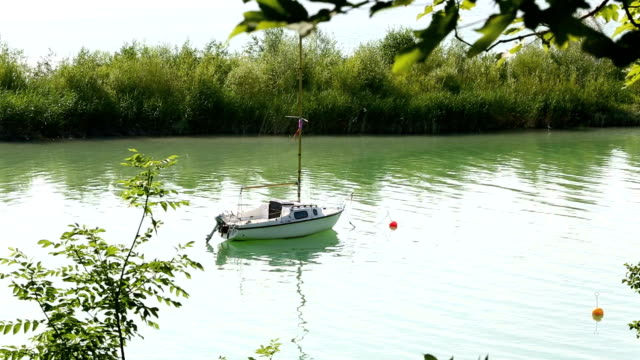 Small sailboat at a lake video
