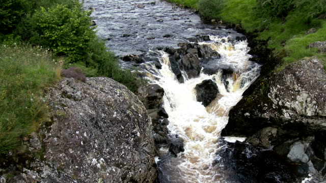 Small Scottish waterfall in Dumfries and Galloway video