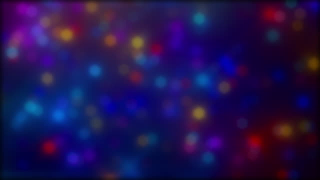 Small Sized Multi Color Defocused Bokeh Background video