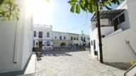 Small square in village on Greek island video
