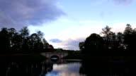 Small stone bridge in beautiful wild park video