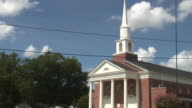 (HD1080i) Small Town North American Church and Traffic, Front video