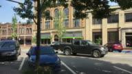 Small Town USA Main Street Establishing Shot video