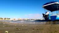 Small Turistic Boat at Seaside,Black Sea,Constanta video