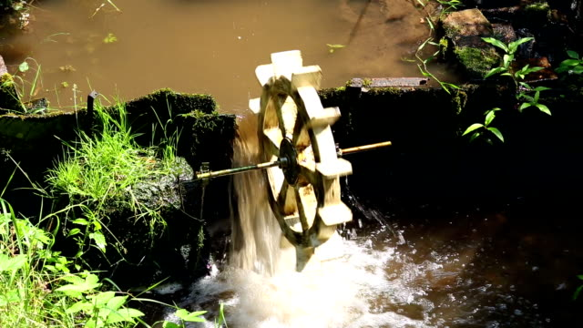Small Water Wheel video