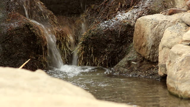 Small Waterfall in a Stream video