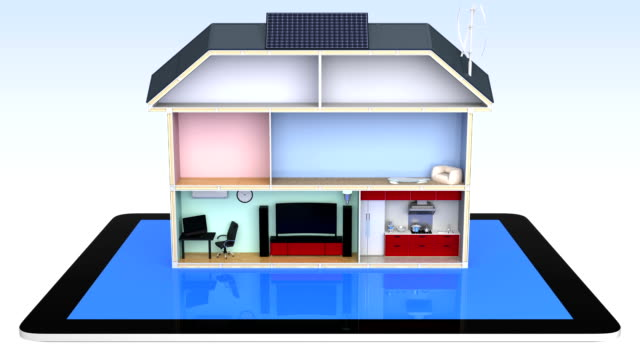 Smart house and tablet computer video