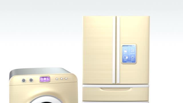 Smart kitchen appliances on a tablet PC video