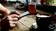 Smart phone and coffee video