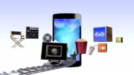 Smart Phone, contents for entertainment and movie concept video