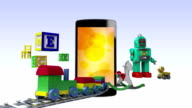 Smart Phone contents for kids and game,concept video