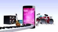 Smart phone, entertainment contents for music, concept video