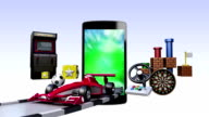 Smart Phone, entertainment TV channel contents for Game concept video