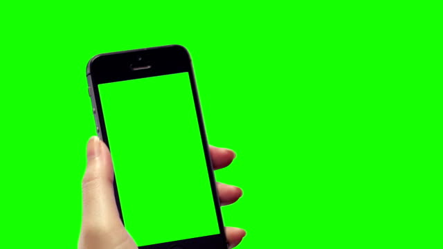 Smart phone green background with blank green screen video