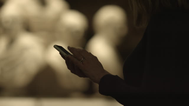 Smart phone operating close-up in gallery video