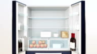 Smart refrigerator with touch screen video