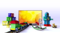 Smart TV contents for kids and game,concept video