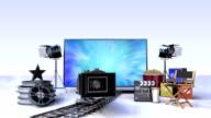 Smart TV, entertainment TV channel contents for movie concept video