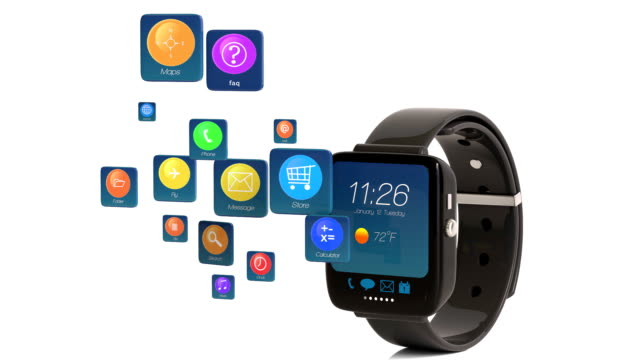 Smart Watch Displaying Apps Icons video