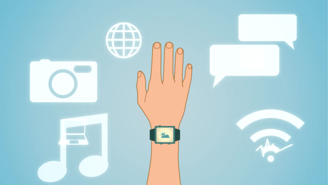 Smart watch with applications video