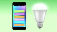Smartphone app control LED lighting video