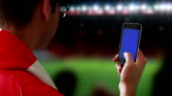 Smartphone at the game. video