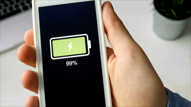 Smartphone fully charged video