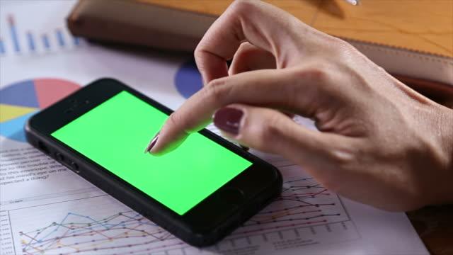 Smartphone Green Screen video