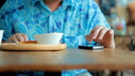 Smartphone in pub or restaurant video