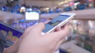 smartphone on escalator video