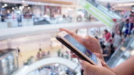 smartphone shopping mall video